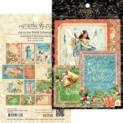 Graphic 45 Christmas Magic Collection Journaling and Ephemera Cards