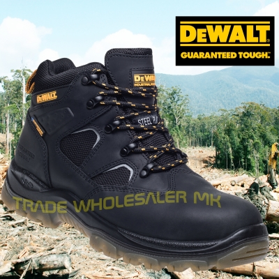 bfdd4ce36ba Details about DeWALT Challenger Black S3 waterproof safety boots latest  model Steel Toecap
