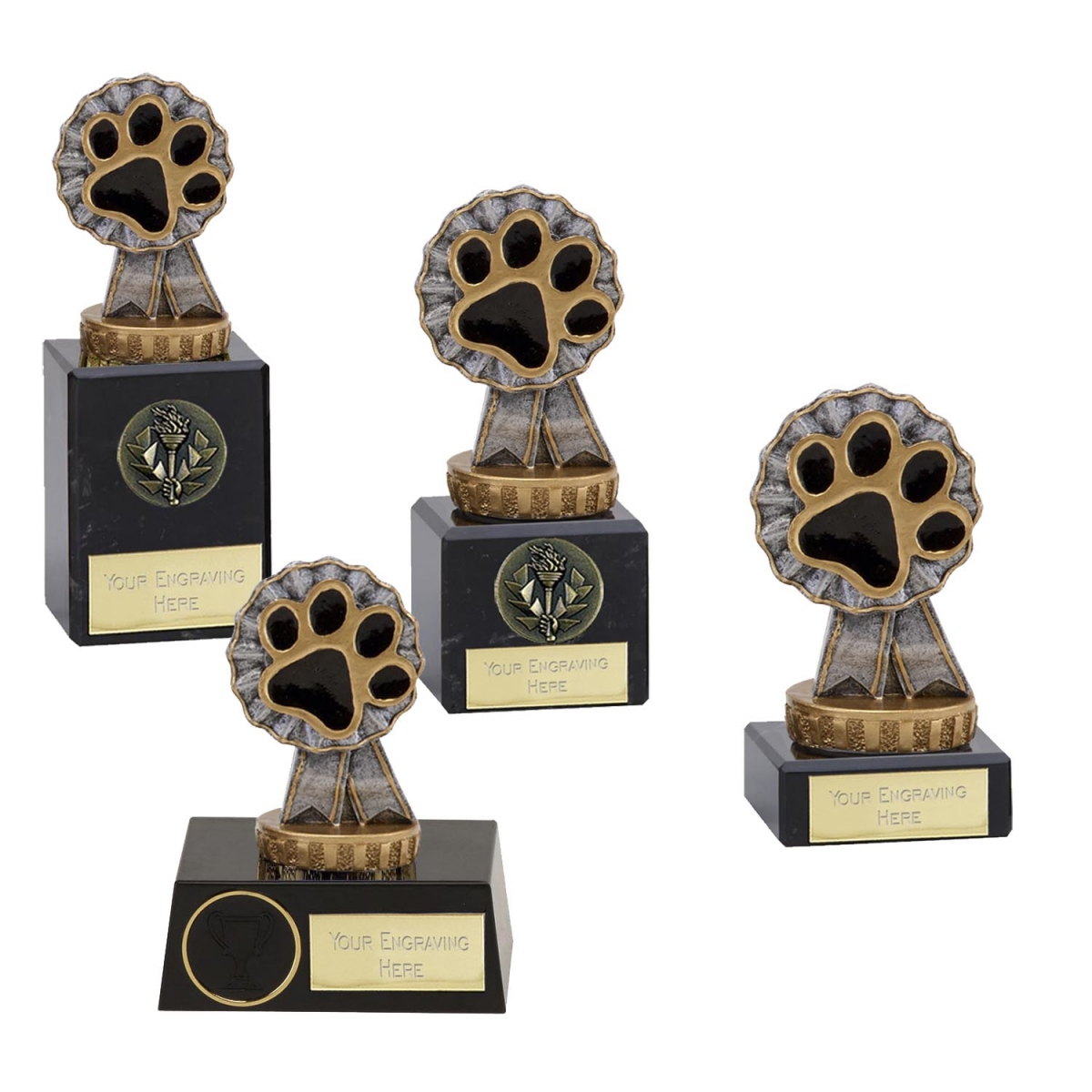 Paw Print Dog Cat Agility Obedience Dog Show Award Trophy Plaque FREE ENGRAVING