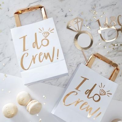 I Do Crew White /& Gold Hen Party Hen Night Paper Napkins x16