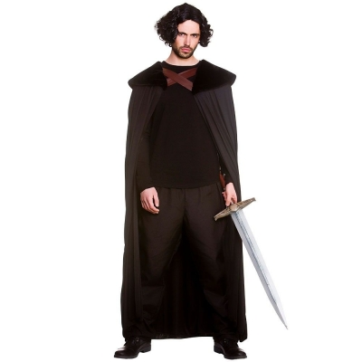 Adult MEDIEVAL HERO ROBE Fancy Dress History Knight Game of Thrones One Size