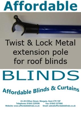 Twist Amp Lock Telescopic Rod Pole For Roof Sky Light