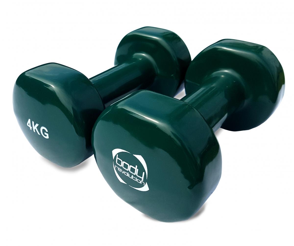 Vinyl Dumbbells Hand Weights Ladies Dumbbell Set Home Gym