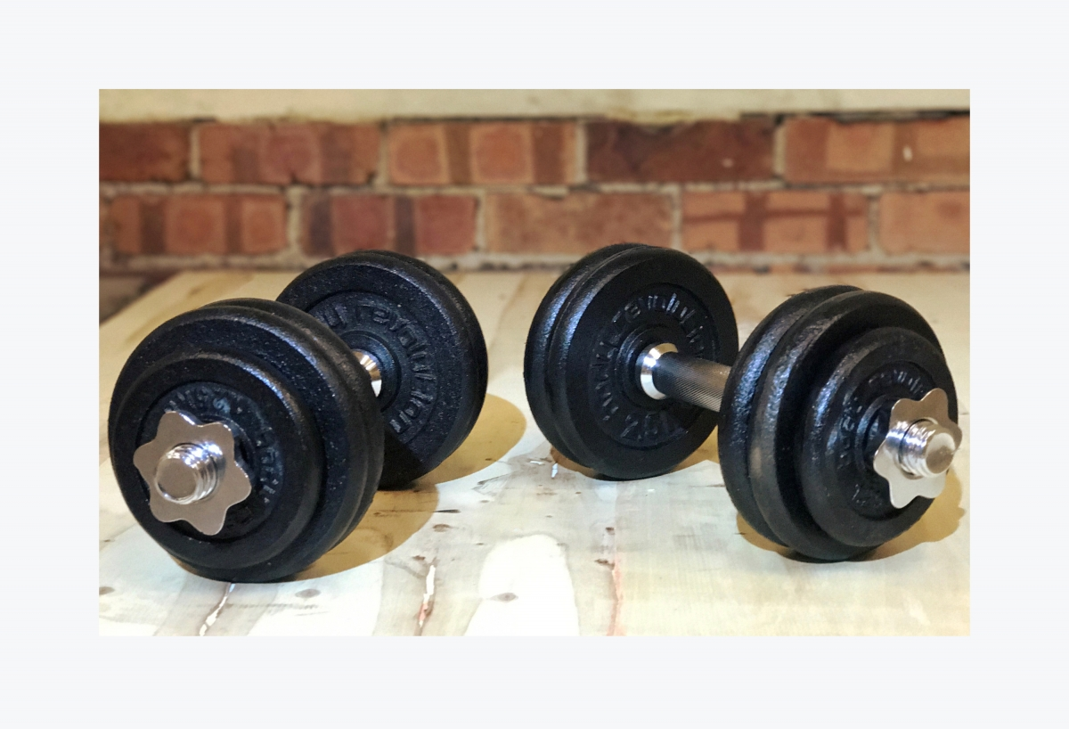 Cast Iron Weights Set Dumbbells Fitness Free Weight